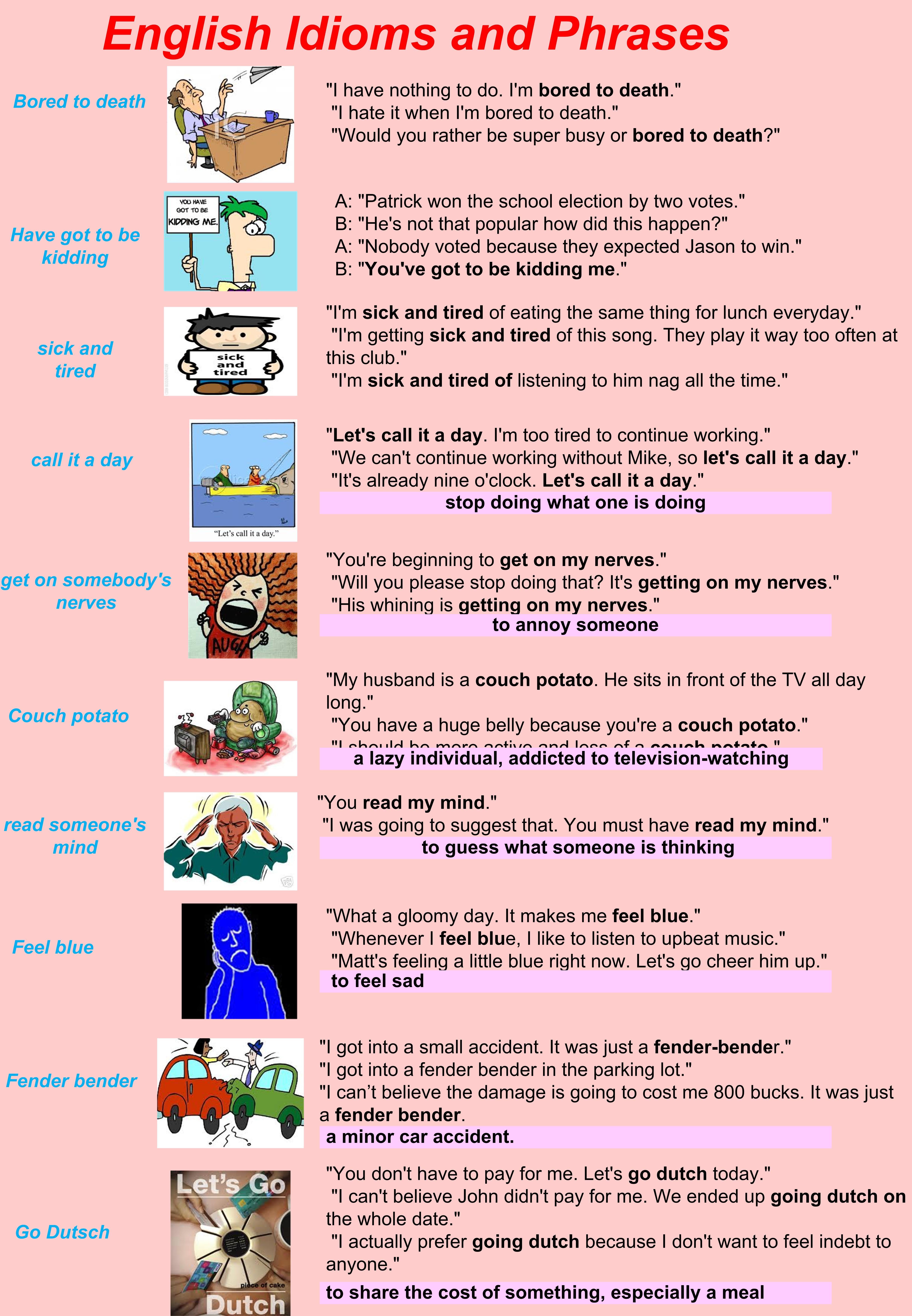 English Idioms English Idioms Idioms Idioms And Phrases [ 6981 x 4838 Pixel ]