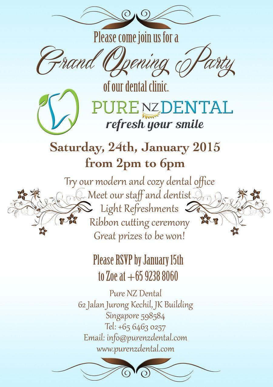 dental clinic invitation card