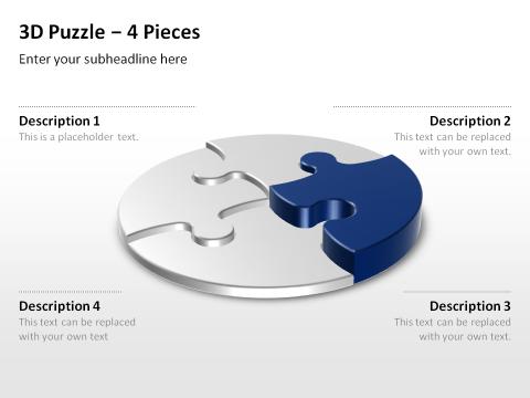 3D Puzzle PowerPoint Vorlage | POWERPOINT VORLAGEN | Pinterest