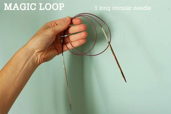 Loop Technique  how to knit in the round using a single long circular n  Magic Loop Technique  how to knit in the round using a single long circular needle  Tin Can Knits...