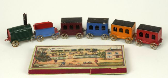 Toys From The Past A Steam Train About 100 Years Old With Five Carriages Toys Old Toys Toy Train