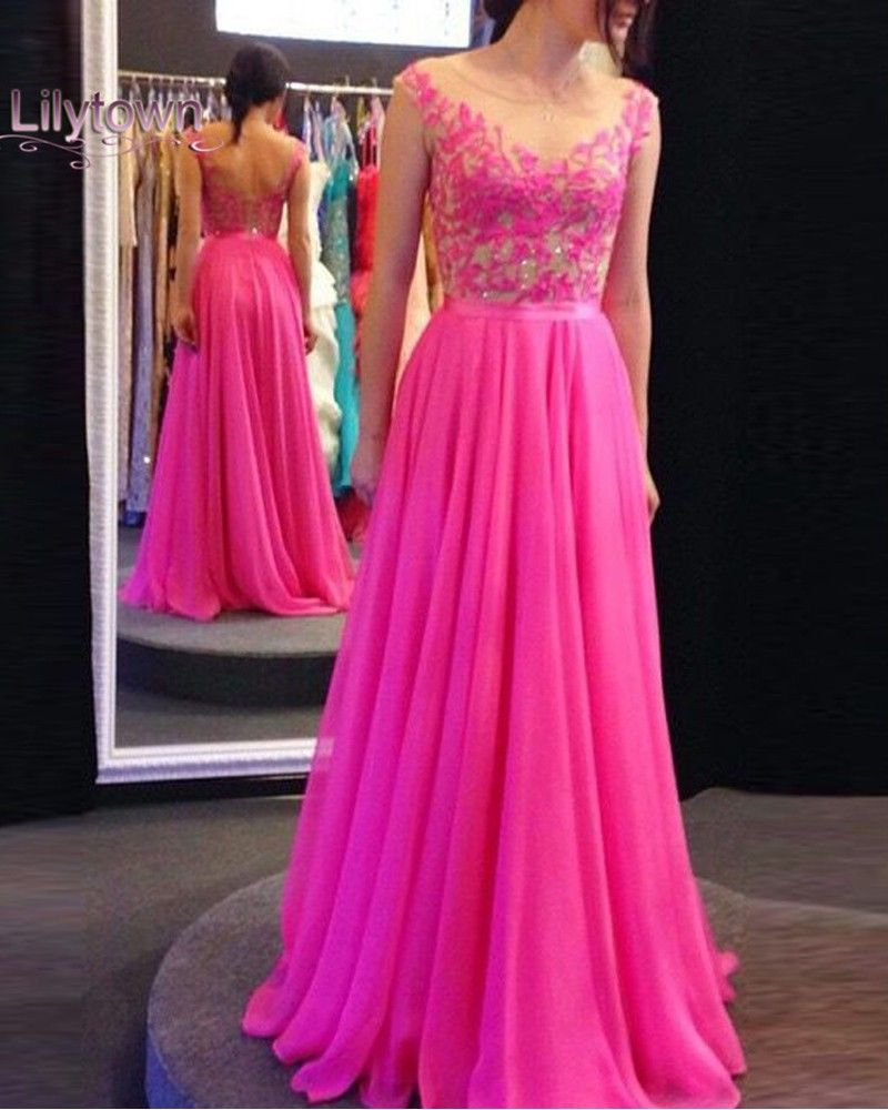 New arrival long hot pink backless promhomecoming pinterest