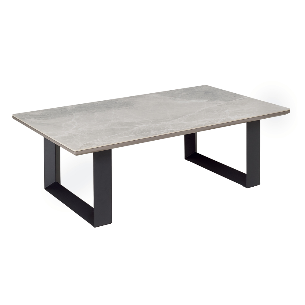 Reno Coffee Table Light Grey Marble Ceramic Coffee Table Coffee