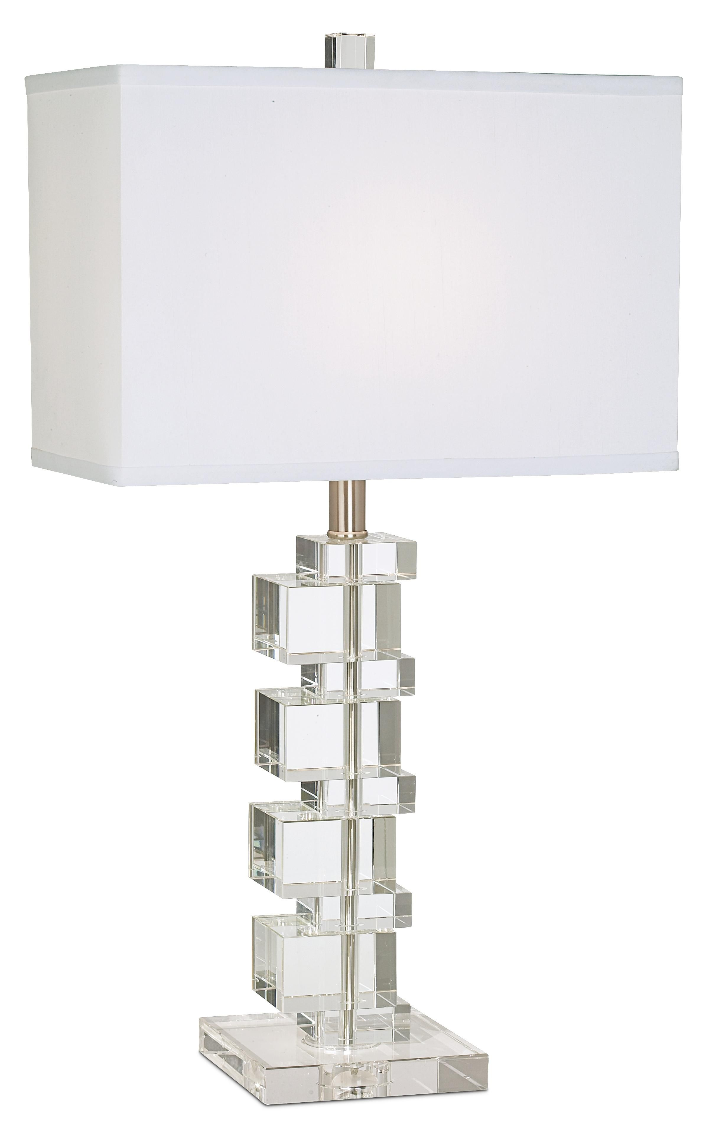 Vienna Full Spectrum Crystal Cube Table Lamp | LampsPlus.com