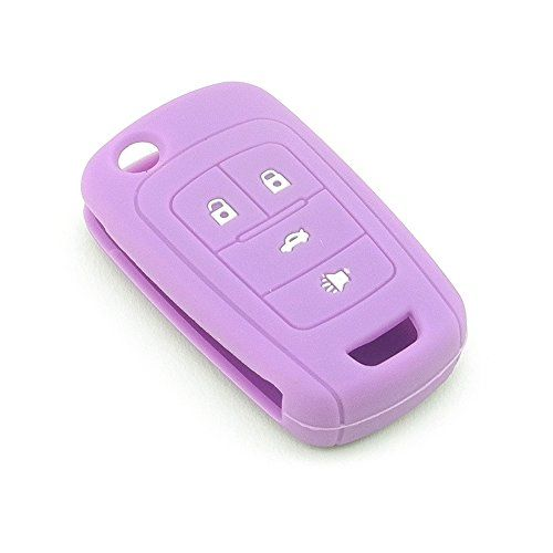 Isaddle Silicone Protecting Vehicle Remote Start Key Case Cover Fob Holder For Chevrolet Camaro Cruze Equinox Malibu Orlando Sonic Purple Col Chevy Cruze Accessories Car Accessories Ford Fusion Accessories