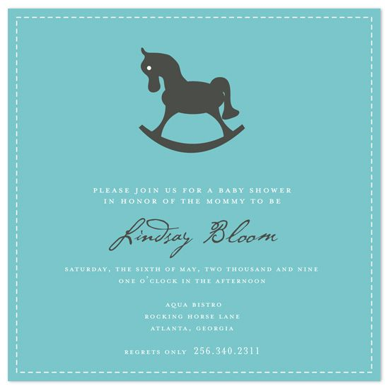 baby shower invitations - Rocking Horse Party Pinterest - baby shower invitation