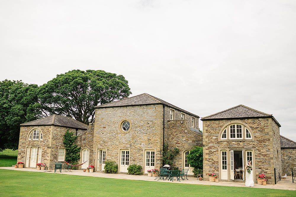 wedding reception venues north yorkshire%0A Botanical Wedding at Broughton Hall N  Yorkshire with Charlie Brear Gown