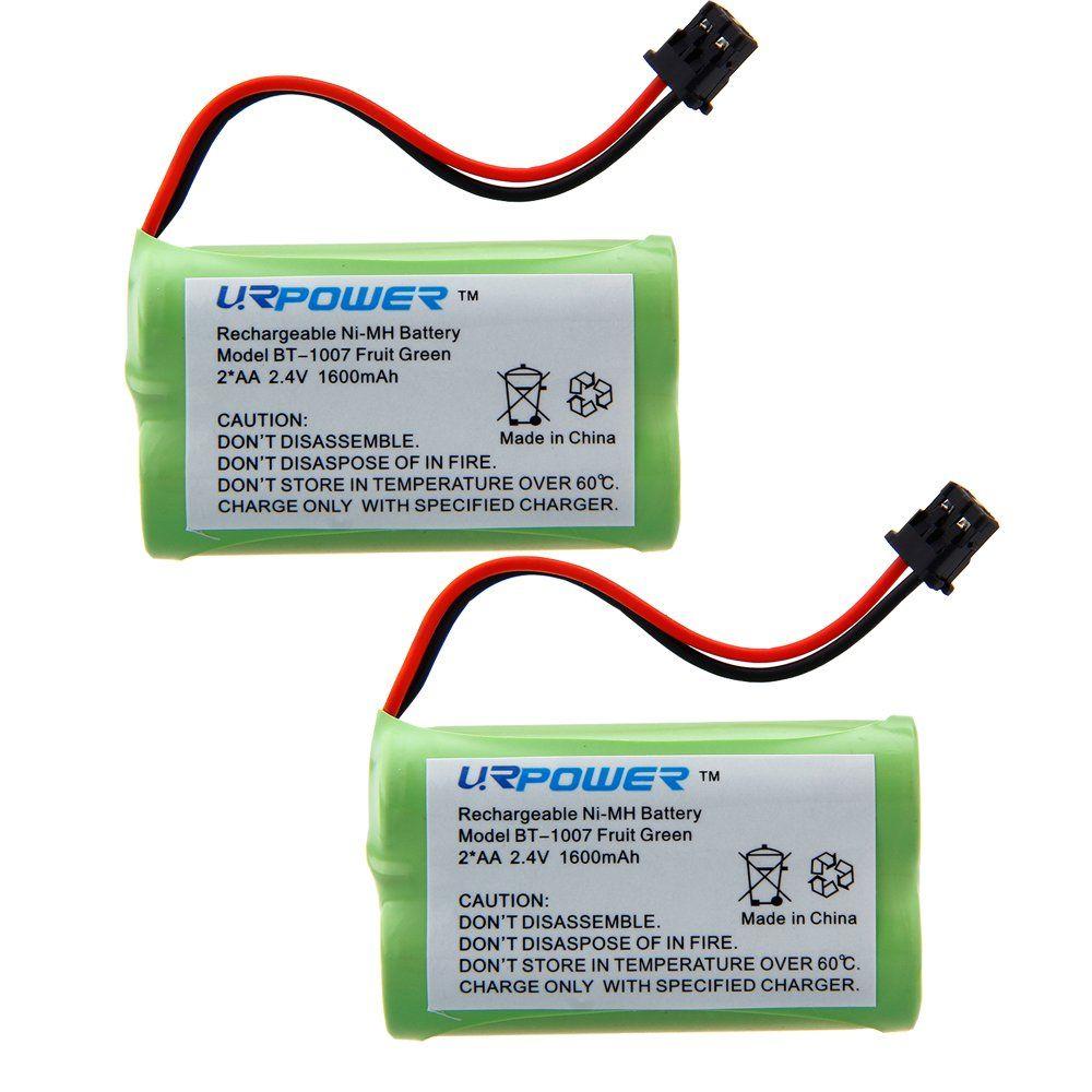 Urpower Reg 2 Pack 2 4v Ni Mh Home Phone Battery For Uniden Bt1007 Bt 1007 Bt904 Bt 904 Bt1015 Bbty0460001 Bbty0510001 Bbty06 Phone Battery Home Phone Battery