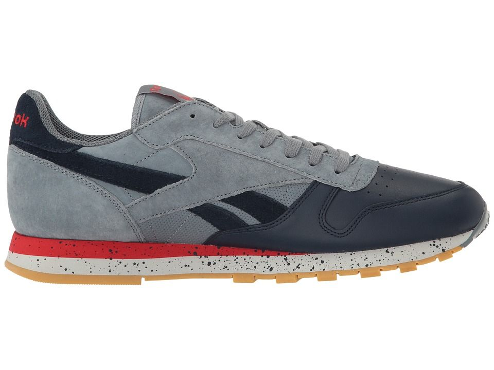 Reebok Lifestyle Classic Leather SM Men's Shoes Asteroid Dust/Collegiate  Navy/Primal Red/