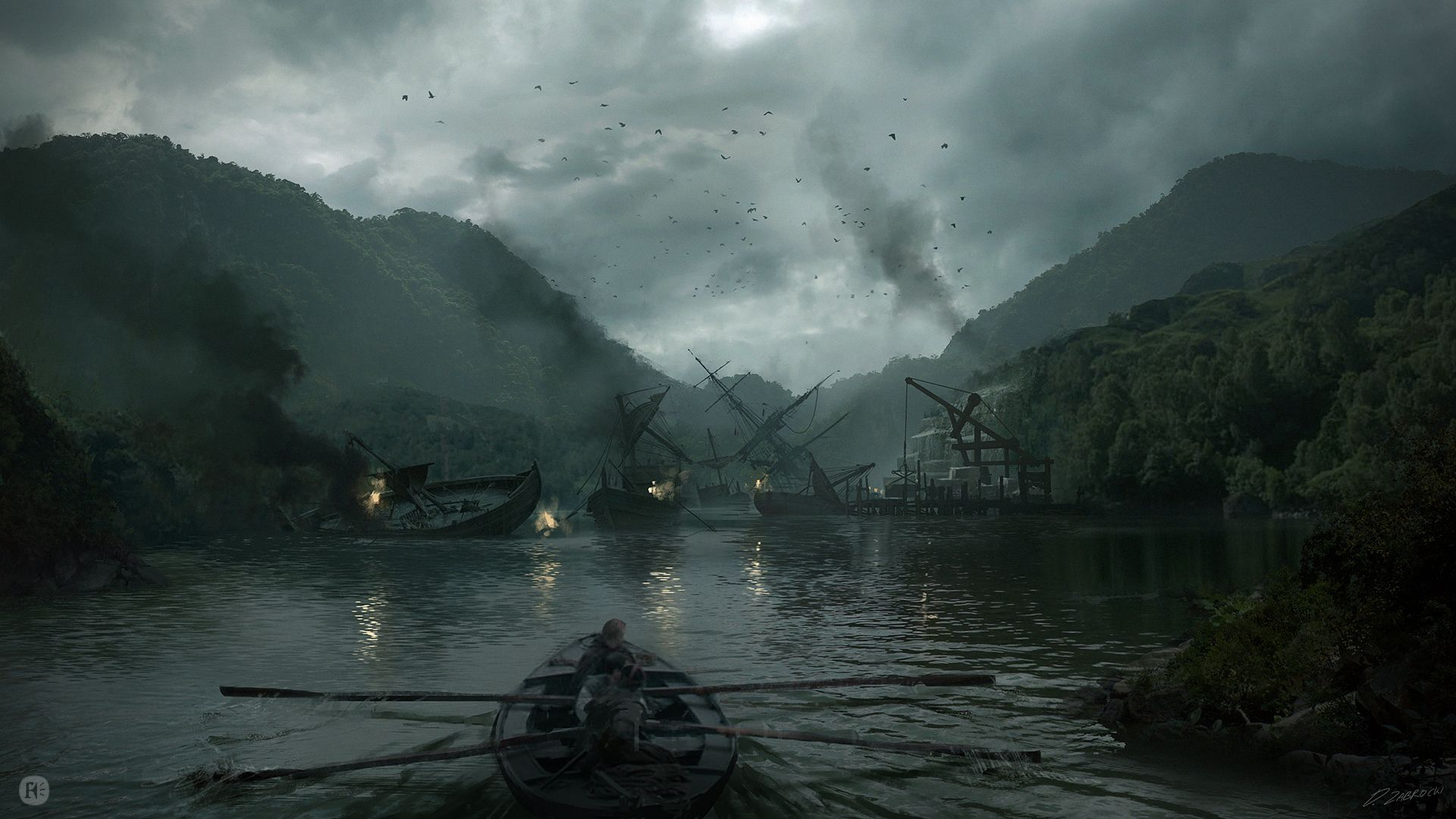 king arthur legend of the sword by daroz fantasy landscapes