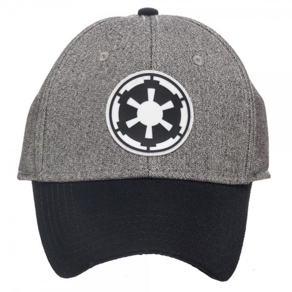Star Wars Imperial Patch Logo Flex Fit Gray / Black