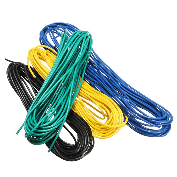 5 Meters/Lot 300V Super Flexible 22AWG Copper PVC Insulated Wire LED ...