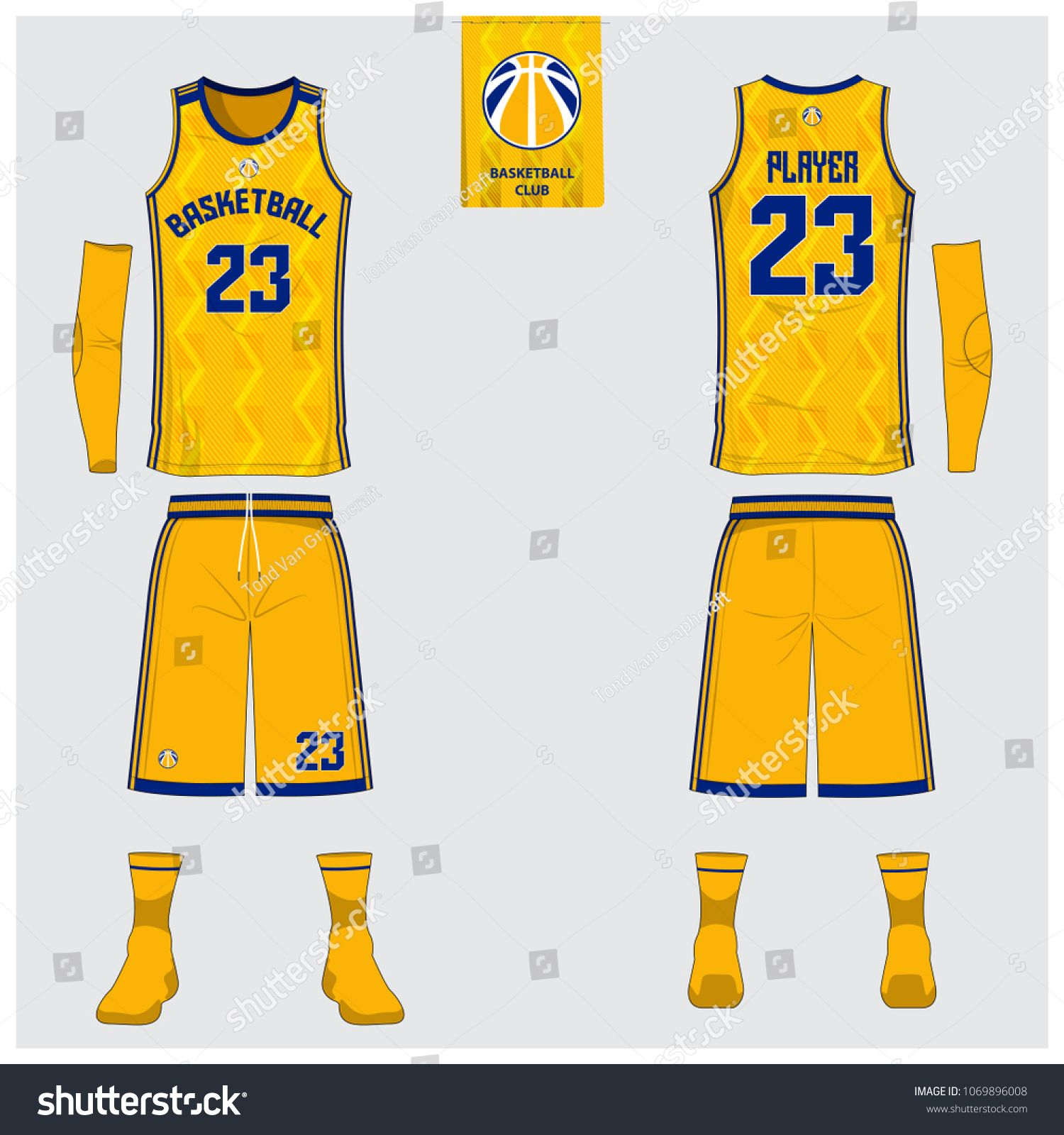 Yellow Basketball Jersey Or Sport Uniform Template Design For Basketball Club Front And Back View Sport T Shirt Desi Sports Uniforms Jersey Design Balls Shirt