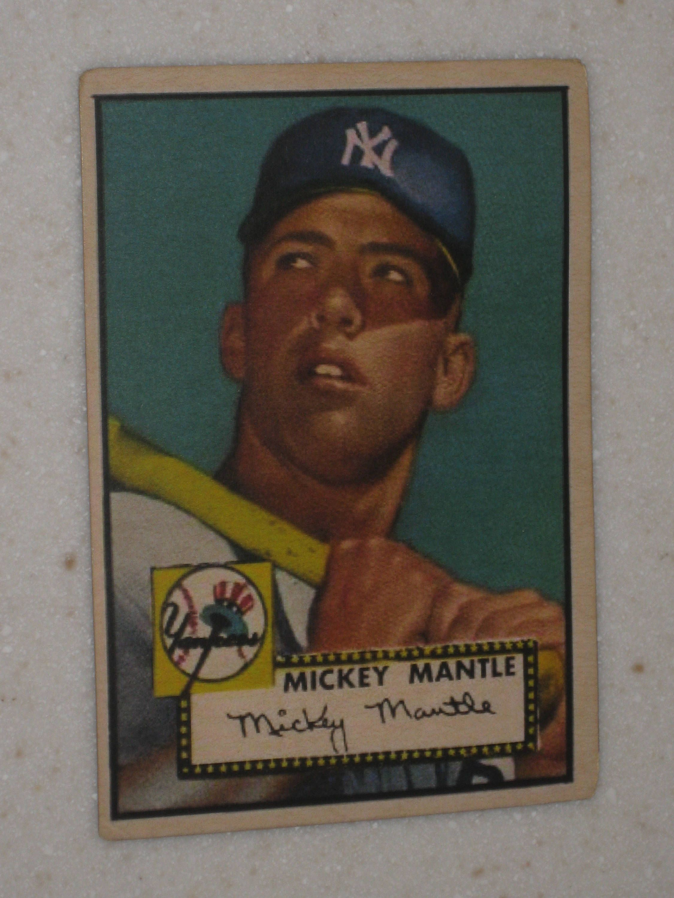 New Just In 1952 Topps Mickey Mantle Rookie Card Type 2