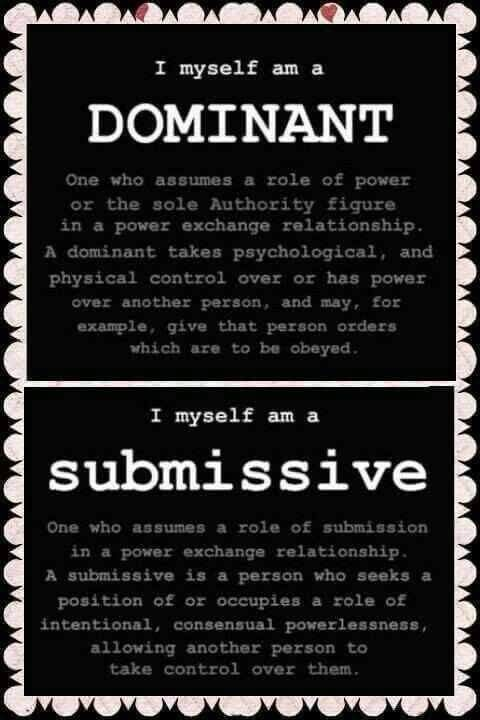 Domination submission information