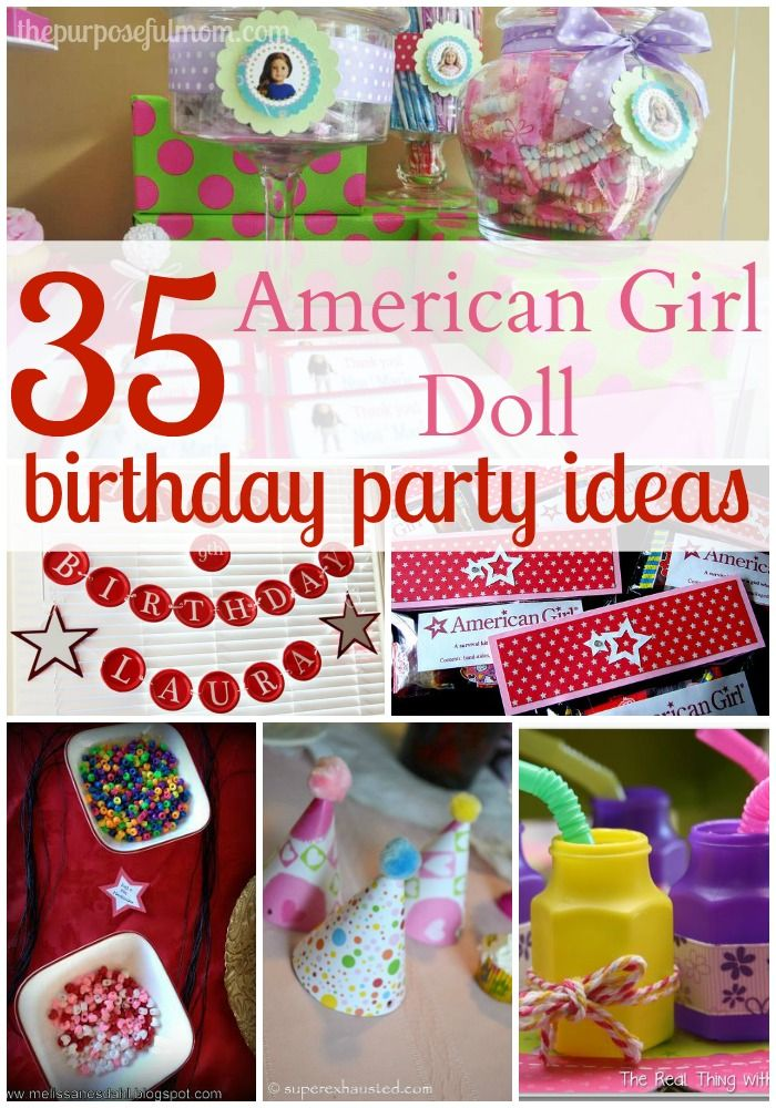 35 ideas for an american girl doll themed birthday party for American party decoration