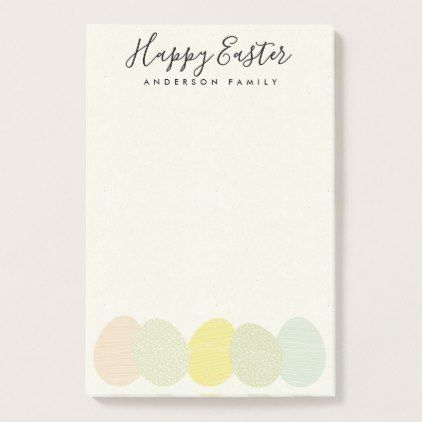 Cute soft subtle pastel easter eggs personalized post it notes cute soft subtle pastel easter eggs personalized post it notes romantic wedding gifts wedding negle Image collections