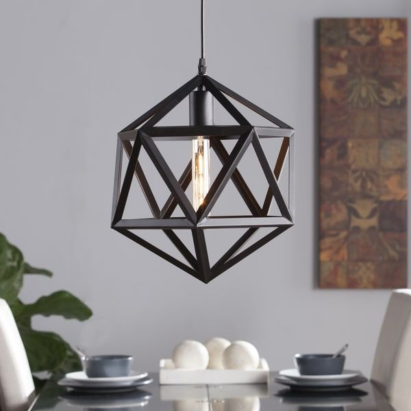 Overstock Pendant Lights Beauteous Harper Blvd Austwell Geometric Cage Pendant Lamp  Free Shipping Design Ideas
