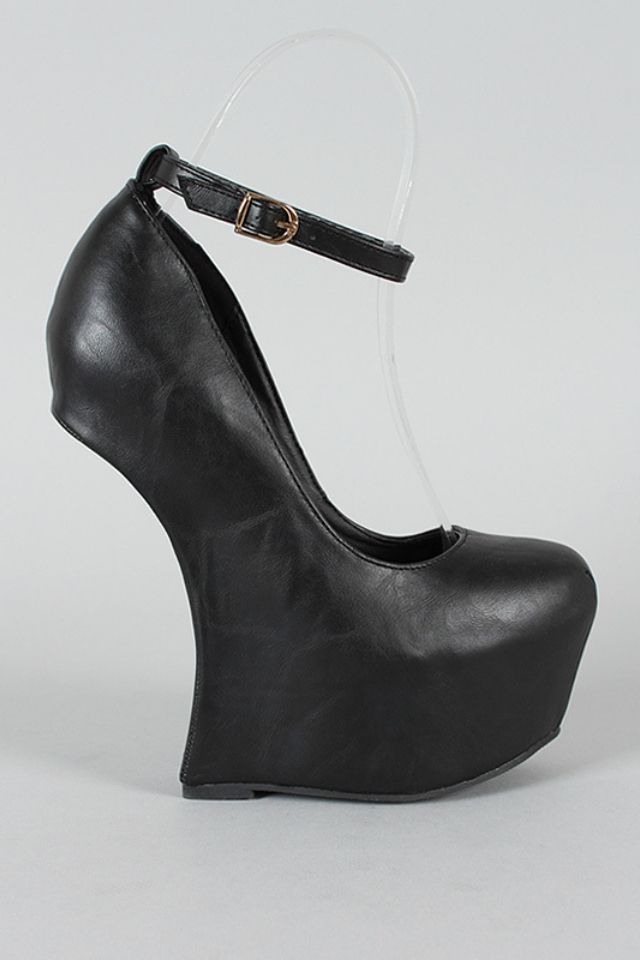 5db8c305814c1 No back   Shoes, shoes And more shoes   Ankle strap heels, Heels ...