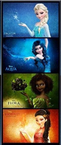 Disney Princess Photo: Elsa with other elements