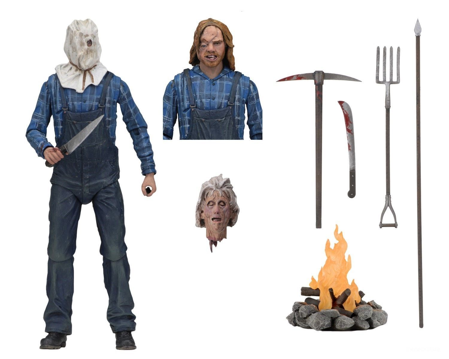 NECA Friday the 13th Ultimate Jason Voorhees Part 2 Action Figure In Hand