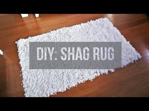 Diy Shaggy Rug Youtube Cool Method Would Also Work With Pompoms Low Tech Low Investment Area Rugs Diy Floor Rugs White Shag Rug