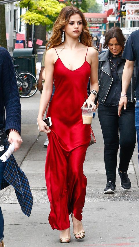 ee26b0ba0d1 Selena Gomez Is a Knockout in 2 Stunning Red Dresses in N.Y.C. from  InStyle.com