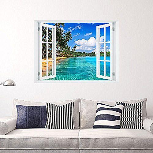 Large Canvas Print Wall Art Caribbean Island 48x30 Inch 3