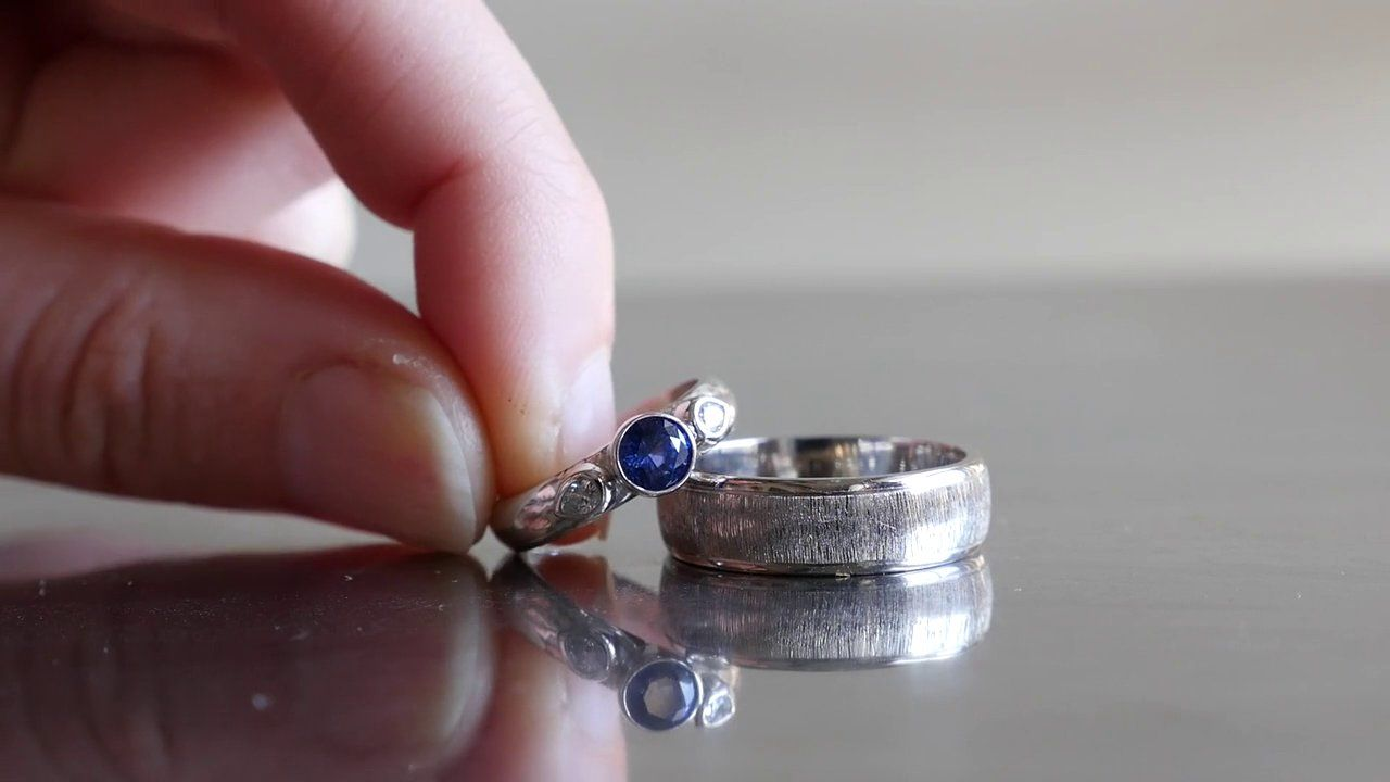 David Alicia made their wedding rings at Whaley Studios in San