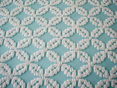 Slaapkamer Vintage Blue : Vintage cotton chenille bedspread chenille things pinterest