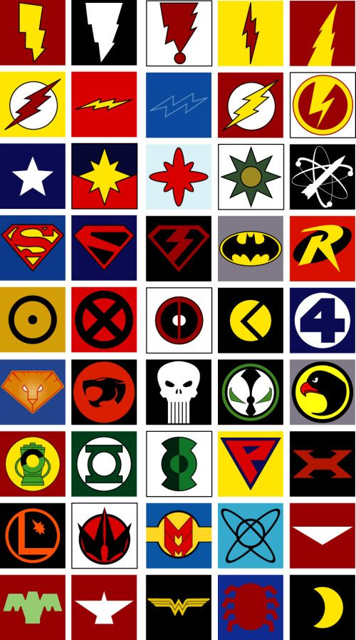 Answers To The Hero Emblem Post Superhero Symbols Superhero Emblems Comics Logo