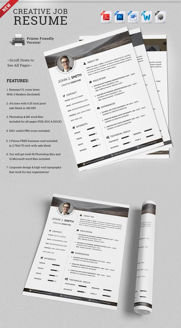 check out creative job resume cv template by