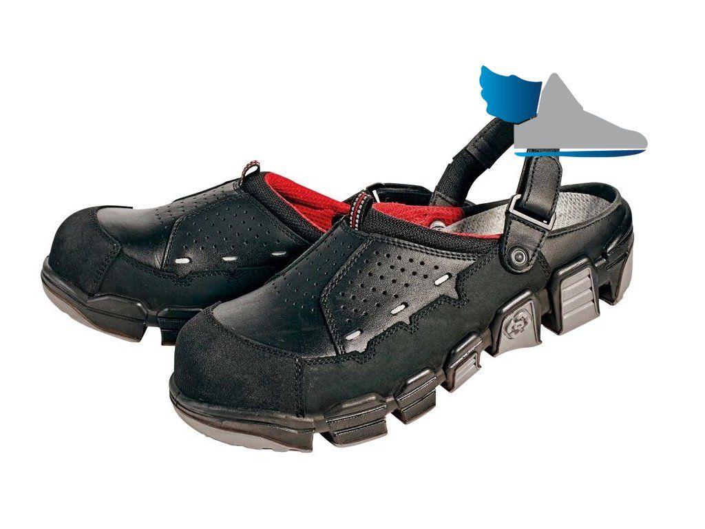 dfe99e5d439b6 Kvalitné, komfortné, čierne pracovné sandále, obuv bez kovových súčastí.