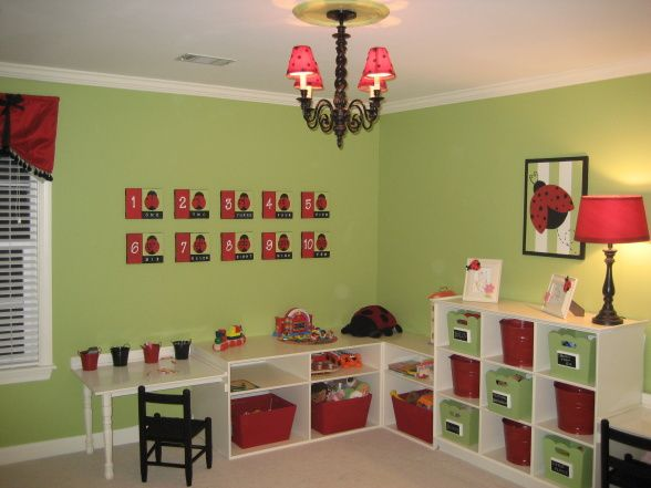 playroom shelf design dazzle adorable playroom apple green cherry red
