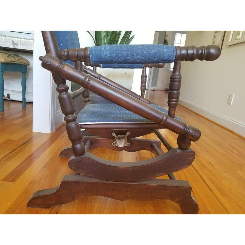 Antique american eastlake victorian platform rocking chair