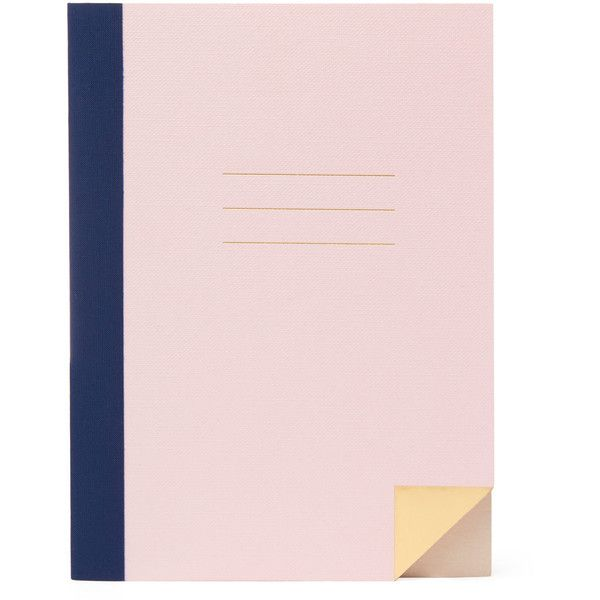 Studio Sarah London Navy Back to School Notebook (785 DOP) ❤ liked on Polyvore featuring home, home decor, stationery and filler