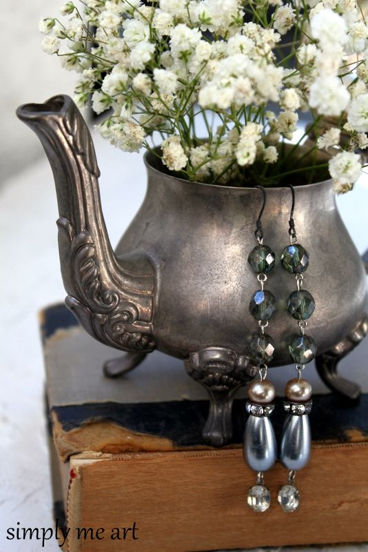 Downton Abbey Inspired Earrings  http://www.simplymeart.etsy.com
