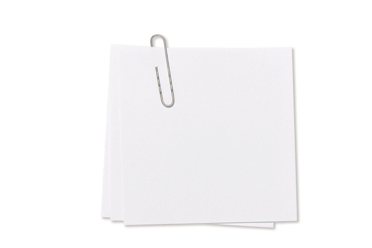 Empty Note Paper Paperclip Png Ad Paper Sheet Paperclip White Paper Clip Note Paper Paper