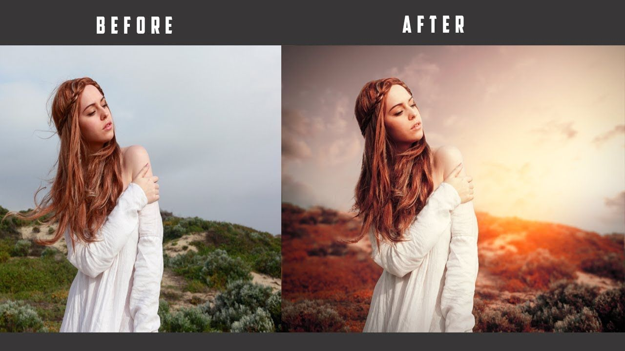 Photoshop Tutorial How To Edit Outdoor Portrait In Photoshop Change