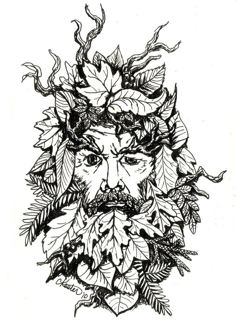 green man coloring pages - photo#18