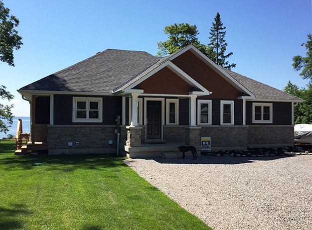 Custom Bala with the Oxford model front elevation royalhomes