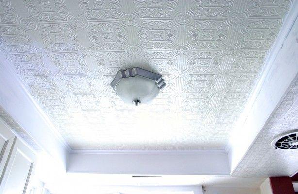 "White Tin tile ceiling (""Amanda Roberts says You can buy"