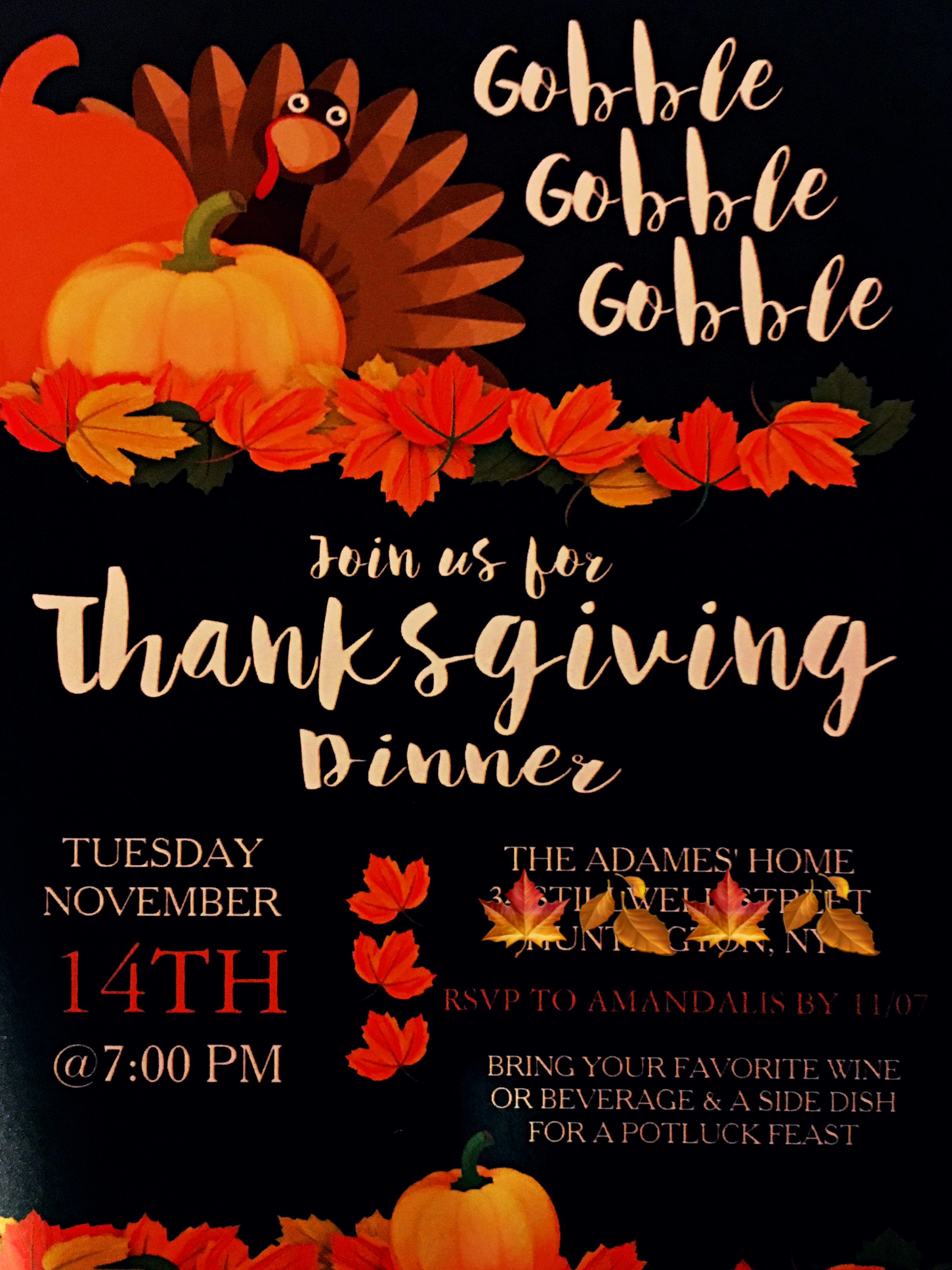 You Re Invited To A Friendsgiving Save The Date