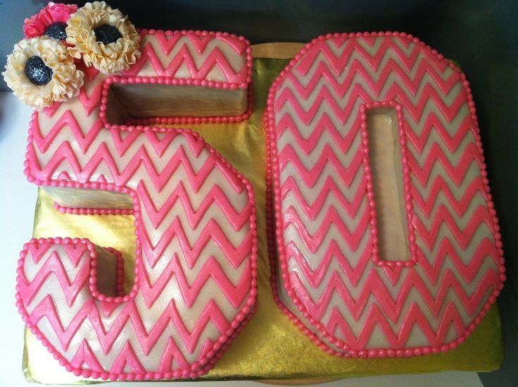 A 50th Birthday Cake Idea That Features Chevron Print 5 0 For Woman See More Cakes And Party Ideas At One Stop