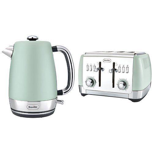 Breville Kettle /& Toaster Kitchen Set Mint Green Daewoo Retro Design Microwave