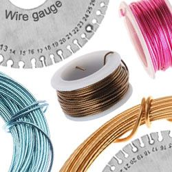 Wire gauge guide at beadaholique learn about the different wire gauge guide at beadaholique learn about the different sizes and common uses of wire for beading crafts and diy jewelry making greentooth Image collections