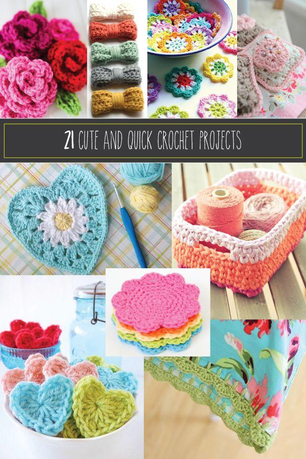 21 Cute and Quick Crochet Projects - | Häkeln - Accessoires ...