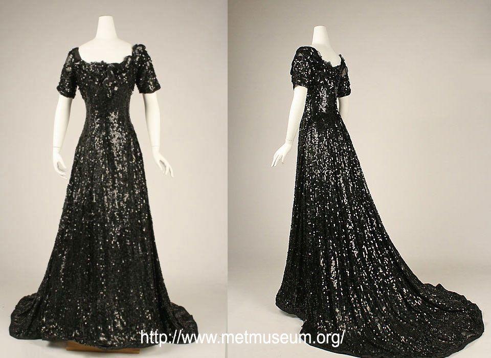 vintage 1900s evening dress