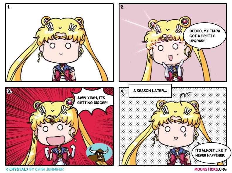 Sailor Moon Crystal Comic! Moon Tiara…. Power Up! :D