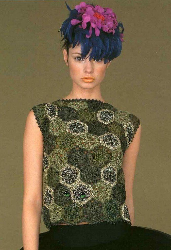 Crochetpedia: вязание крючком рубашка блузка Шаблоны 2 | Shrag top ...